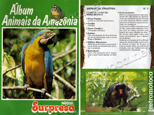 álbum animais amazônia
