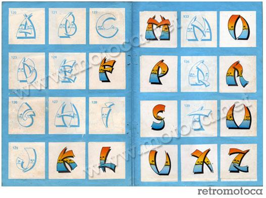 Figurinhas Letras Surf Color