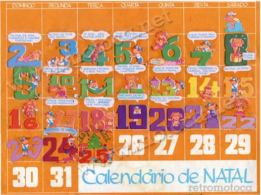 Calendário transfer Natal