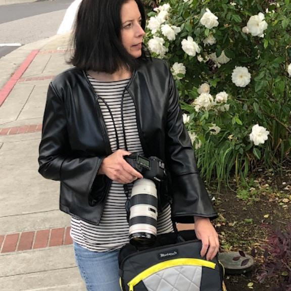 Daniela with Lauren bag