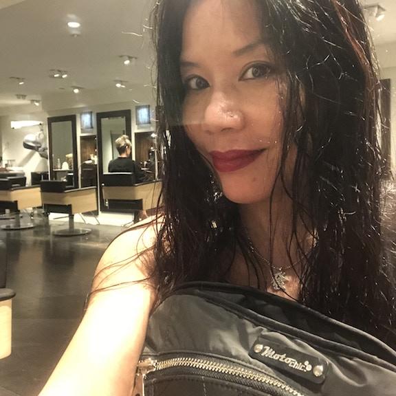 Sui Lon with Lauren bag