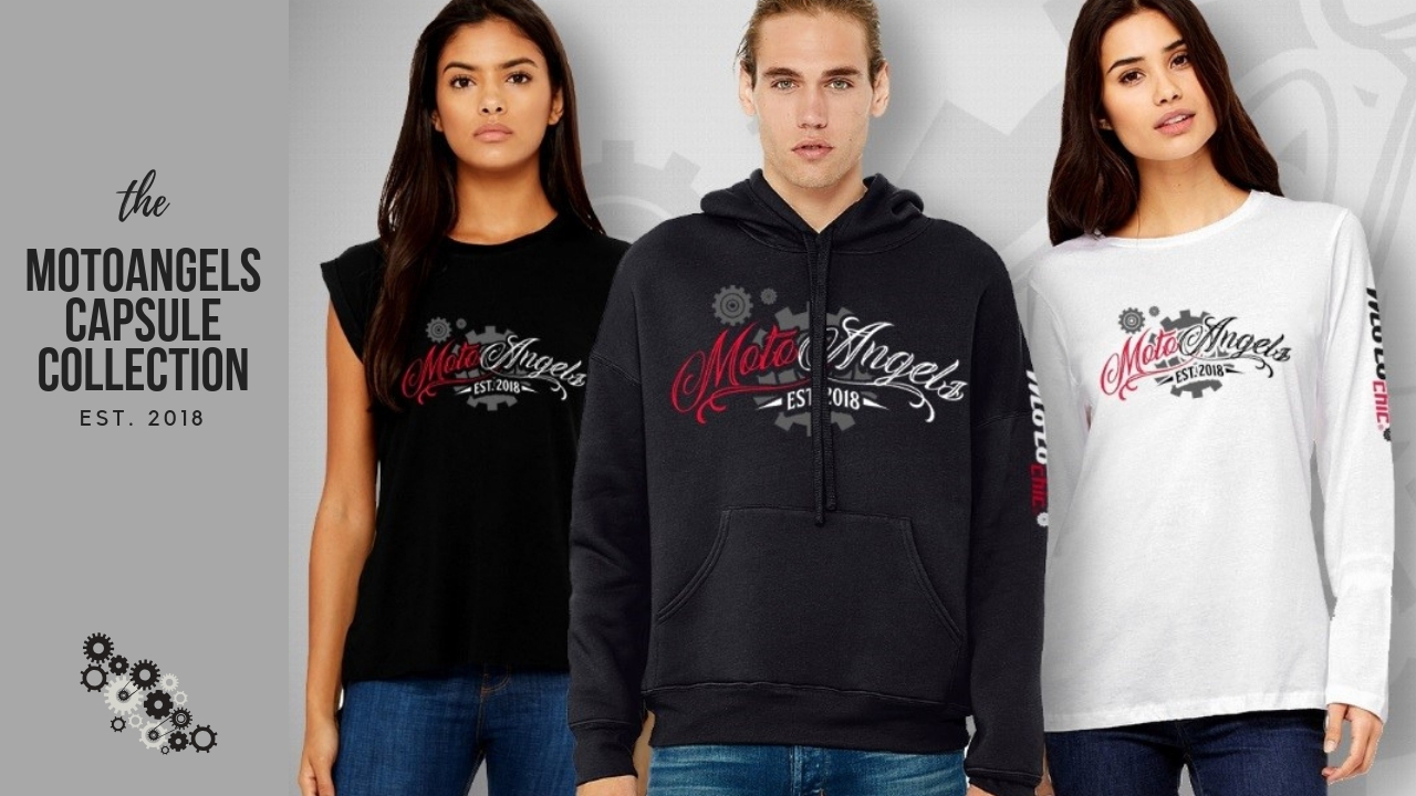 motoangels capsule collection hoodie t-shirt muscle tee