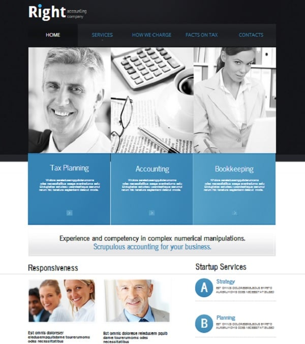 accounting website templates top picks from motocms designers