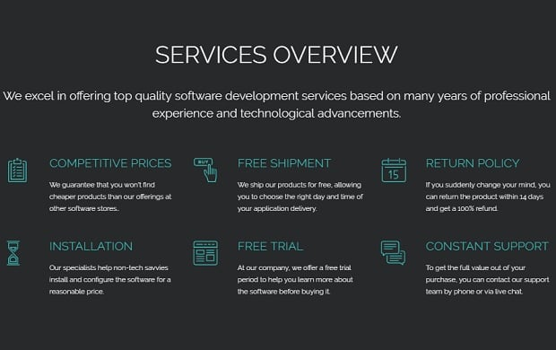 How to make a software website - services