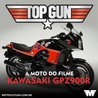 A moto do filme Top Gun: Kawasaki Ninja GPZ900R