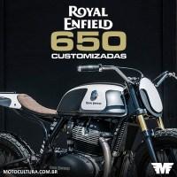 Royal Enfield Continental GT e Interceptor 650 Customizadas