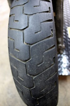 Now that is what I call a badly worn and very uneven front tire