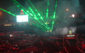 It's always a show at the Supercross