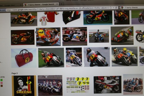 I wanted a #7 and the best of the best #7's is Barry Sheene, my childhood hero
