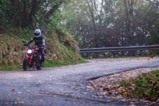 Care is needed on the wet roads