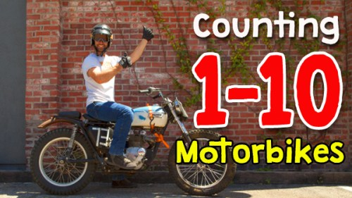 Counting 1-10 Motorbikes KIDS