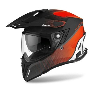 Casco Integrale On-Off Moto Touring Airoh COMMANDER Progress Arancio Opaco