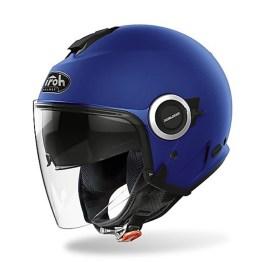 Casco Moto Jet Doppia Visiera Airoh HELIOS Color Concrete Blu Opaco