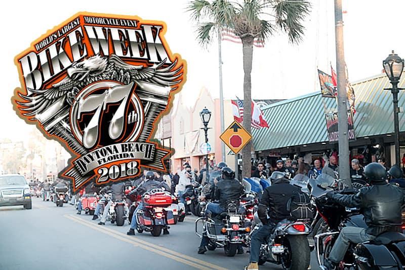Evento reúne mais de 500 mil motociclistas no litoral da Flórida a cada edição