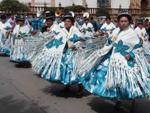 Traditional Bolivian dancing in Sucre