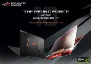 ASUS Republic Of Gamers (ROG} Powerful Gaming Laptops with NVIDIA GeForce GTX 10-Series Graphics Cards