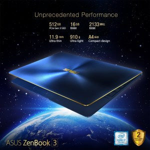 Asus Zenbook 3 – World's Most Prestigious Laptop – Now Available in the Philippines