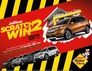 """Honda partners with Jollibee in """"Scratch 2 Win Campaign"""""""