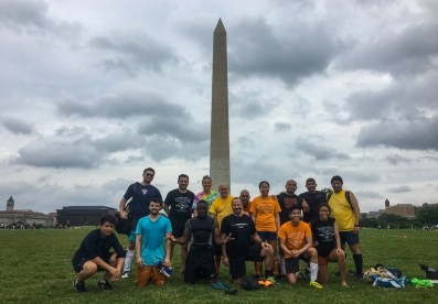 Great Experience: Playing a soccer match in front of Washington Monument