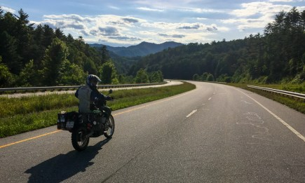 Highway in the Great Smoky Mountains
