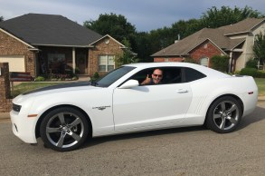 Taking off in Kevins Camaro to see Fort Smith