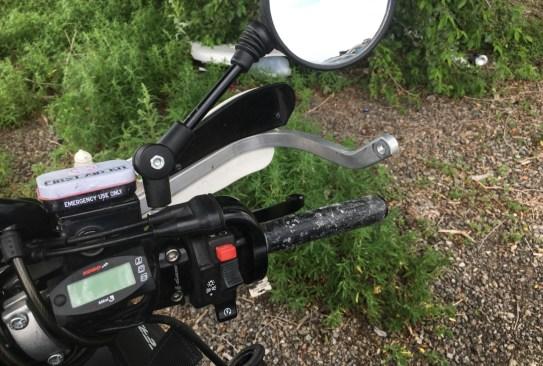 First roadside repair - had to glue the throttle grip again