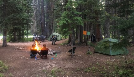 It's nice to have a fire when camping in the wild