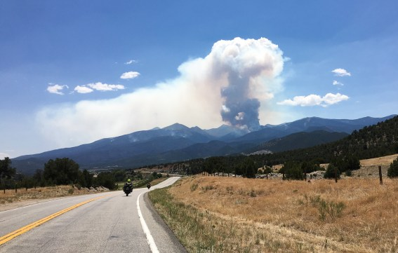 Huge fire in the mountain forests