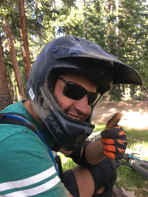 Mathias giving his OK after a specatular crash
