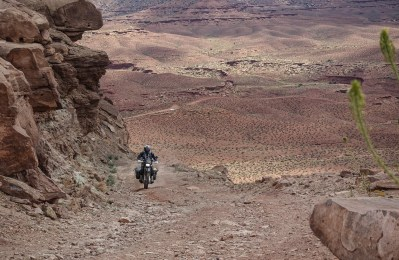 taking one of the steep and stony inclines