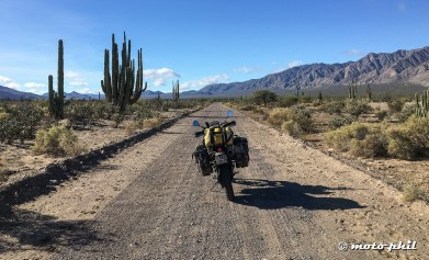 Heading off from Bahia towards south on a dirt road