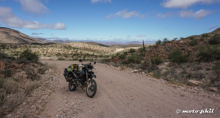 For the most of the 200 Km it was just a nice dirt road