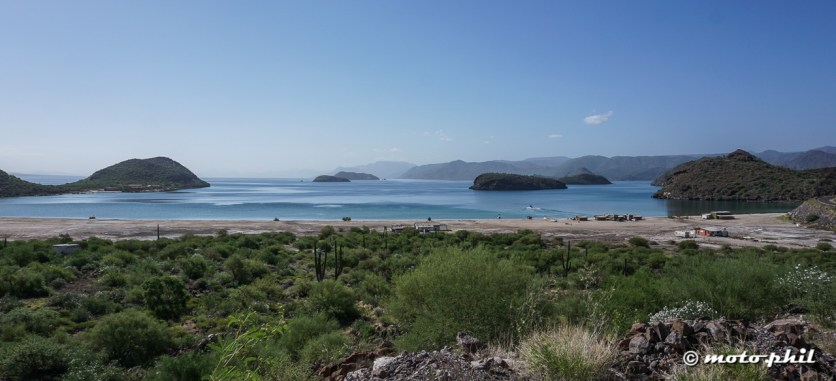 Bahia de Conception has beautiful beaches and cliffs, perfect for camping on the beach