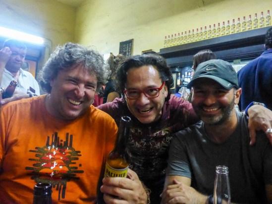 "Michnus and moto.phil meeting Roberto in ""La Fuente"""