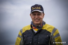 Gerardo Acuna with hat and riding gear