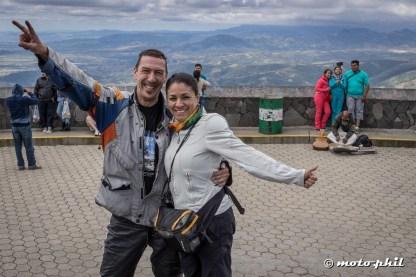 Uli Schäfer and Alejandra Ortiz at the Cristo Rey statue