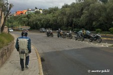 GS riders stopping in the middle of the street