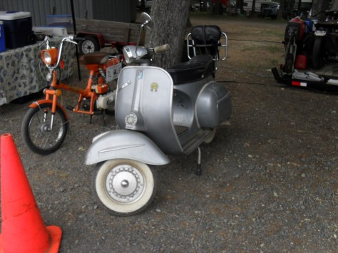 Vintage Vespa & old moped.