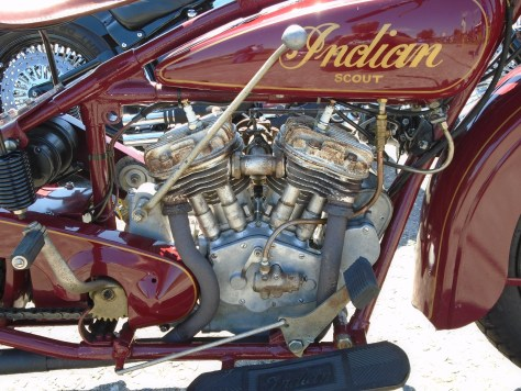 <29 Indian Scout engine>