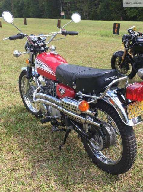 Honda CL350 At Rails & Roads Motorcycle Show
