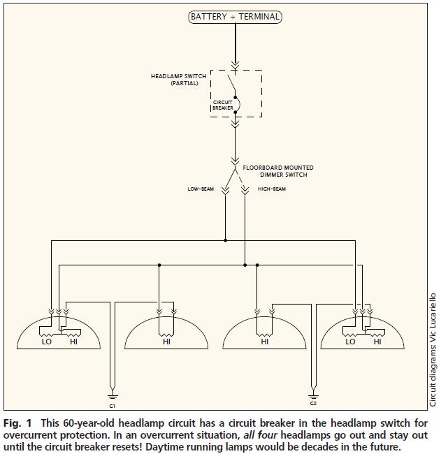 headlight circuit evolution  motor