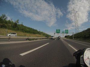 Autobahn bei Genf