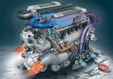 Motor Bugatti Veyron