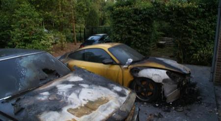 Porsche 911 GT3 pasto de las llamas