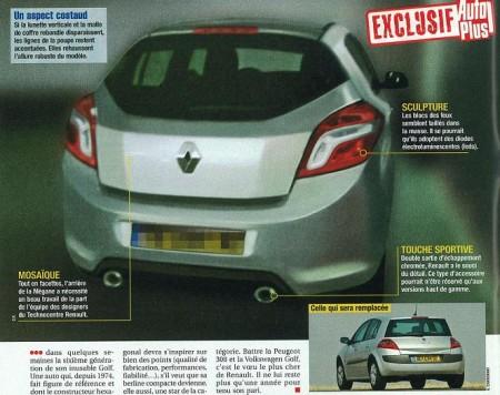 Fotos espía del Renault Mégane 2009