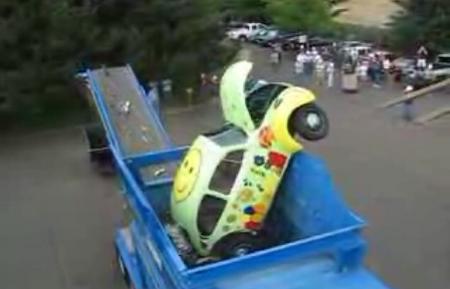 Volkswagen Beetle triturado