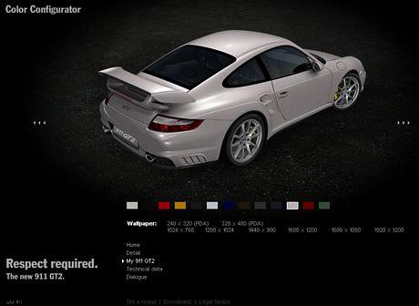 Micro-sitio del Porsche 911 GT2