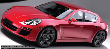 Porsche Panamera recreación