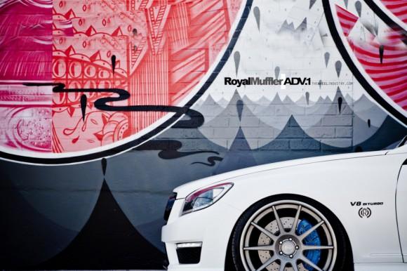 Mercedes CL63 AMG con zapatos ADV.1 nuevos