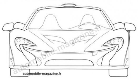 Aparecen las fotos de la patente del McLaren P1